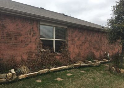 Pressure Wash Residential during brick