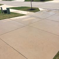 After Pressure Wash Drive Way